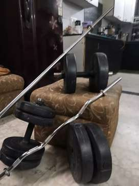Newly purchased gym equipment for sale total weight: 30kgs