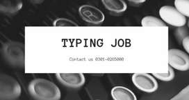 TYPING JOB AVAILABLE