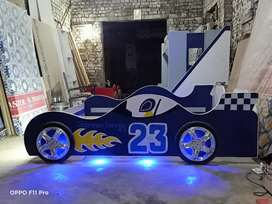 23 Sports car bed with lightings