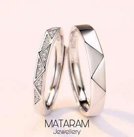Cincin Kawin Palladium - Mataram Jewellery