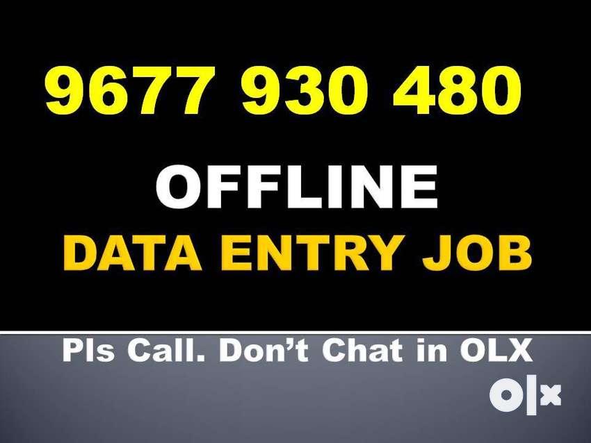 Call: 967793O48O. Govt. Regd. OFFLINE DATA ENTRY Part Time Work HOME! 0