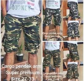 Cargo pants army (celana pendek cargo tentara)