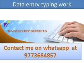 Part time job home based work data entry job simple typing work