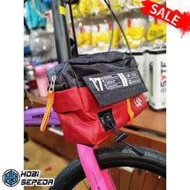 Tas Sepeda Multifungsi Merk LIVI bahan waterproof