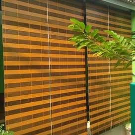 Tirai kayu krey kayu pvc 64