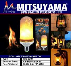 Lampu LED Api / Bohlam Api LED E27 Flame Effect Mitsuyama MS-8207A