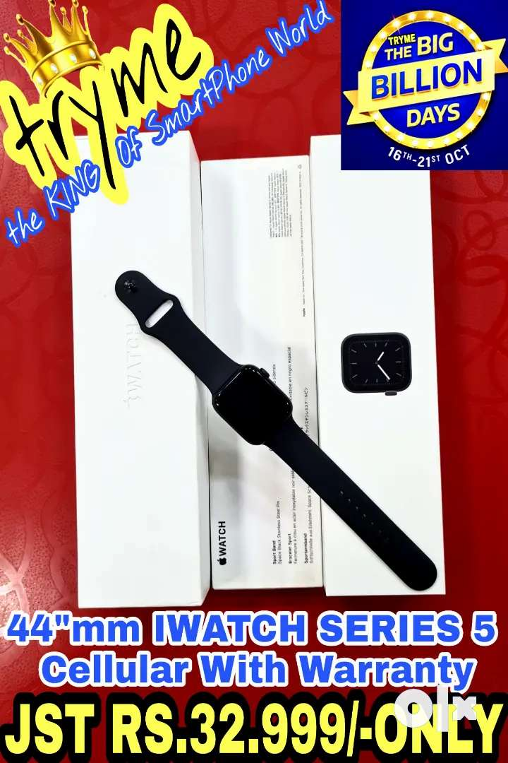 TRYME 44mm Cellular IWATCH SERIES 5 With Warranty Full Kit Box 0