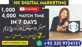 YouTube 1k Subscribers + 4k watch time & Training session for earning