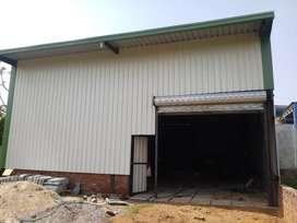 Tin shade godown ,warehouse ,showroom