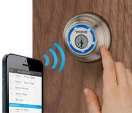 Smart Electric Door locks Operating with Mobile Access control