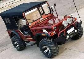 Black colour Jeep modified Jeep ordinary