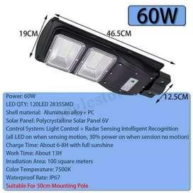 Lampu Jalan PJU 60 Watt Solar Cell Street Light Panel Surya 120 LED