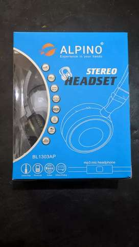 SEALED PIECE ALPINO HEADPHONES WIRED MRP 500(SELLING PRICE 350)