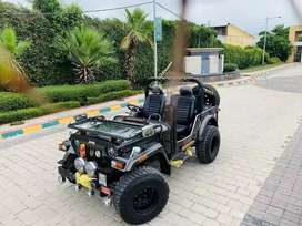 Modified open jeep hunter