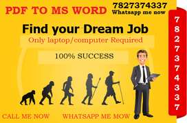 Required candidates for Typing project. Offline data entry job availab