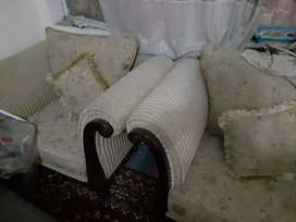 new five seater sofa set  plus coffee chairs
