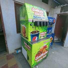Six flavours soda fountain machine