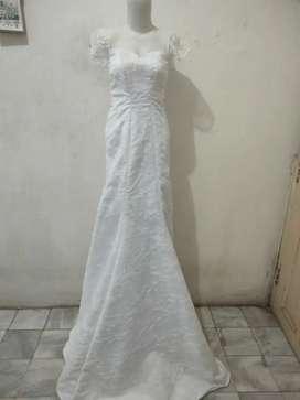 Dress Putih Akad Nikah