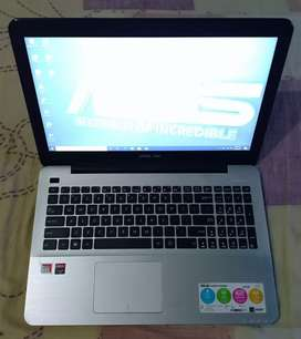 Laptop ASUS X555BP AMD A9-940 GEN7TH HDD 1TERA Layar 15,6inchi