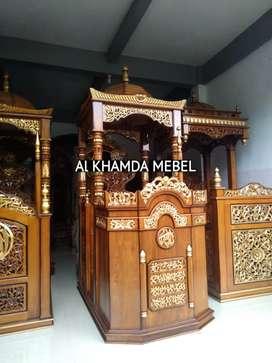 Ready Mimbar Masjid Material Kayu Jati Berkualitas #322