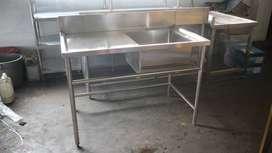 Tempat Cuci Piring / Meja Sink Bahan Stainless Steel Anti Karat