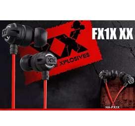 Extreme Xplosives Super Deep Bass Earphones - Black
