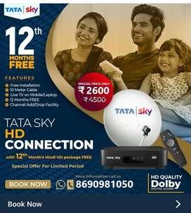 Best Diwali Offer TATA SKY Setup Box HD/SD Airtel Dth Dish TV Book Now