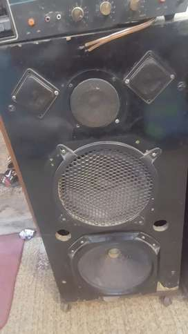 speaker with amplifier...used h but condition 10/8 h without base