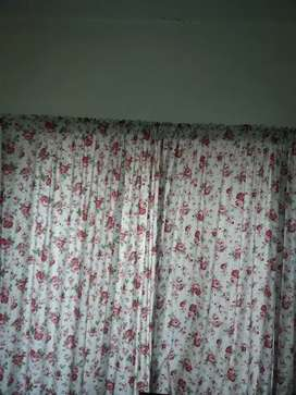 printed floral curtains