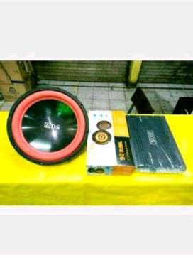 Audio mobil speaker vokal 6 in + Subwoofer ads 12 bass + power 4 chane
