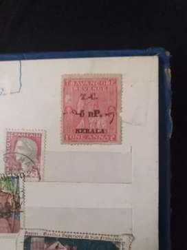 Travancore തിരുവിതാംകൂർ stamp