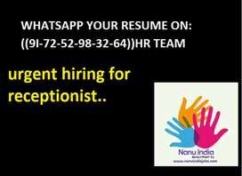 receptionist job (urgent hiring in kanpur)