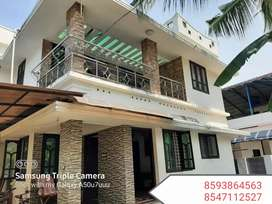 4.25Cent Plot 1850Sqft 4Bhk House In kollam Ramankulangara