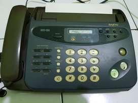 mesin fax sanyo sm caculator