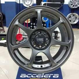 Velg Mobil Racing Ring 16 HSR SEBUNSUTA R16x7 Pcd 4x100 & 4x114,3 Jazz