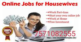 Jobs for retired person , employed , Home makers and students.