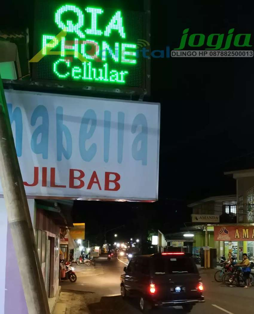 Lampu berjalan Jogja Running Text Full outdoor Garansi 1 Tahun