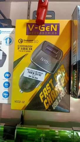 Car charger vgen vcc-12
