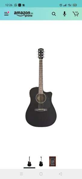 Fender CD-60CE Dreadnought Cutaway Acoustic-Electric Guitar - Black