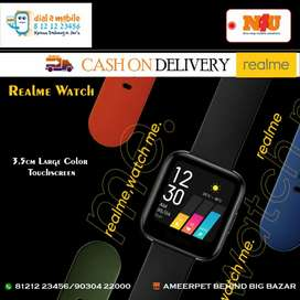 Realme smart Watch with various colour straps availabke at N4U mobiles