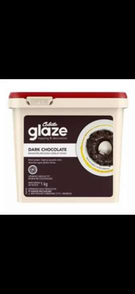 Toples atau ember bekas glaze cholatta 1kg