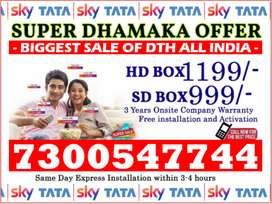 Tata Sky New Offer Dish Tatasky Airtel tv (Free FireTv & 6 Month Pack)
