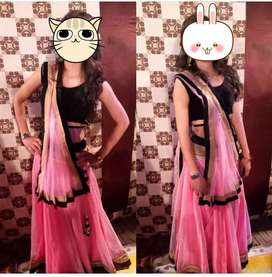 Baby pink color lhnga only 1000rs