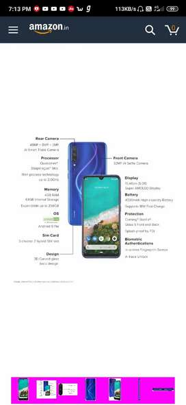 Mi A3 ..seal pack mobile only 12999