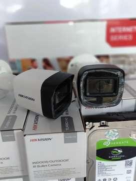 Paket 8 Kamera Hikvision 2 Mp Turbo HD + Instalasi