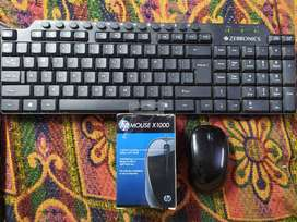 Keyboard and Mouse combo brand new feel wired HP mouse