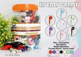 grosir handsfree jete eazy candy+mic 1toples isi50pcs