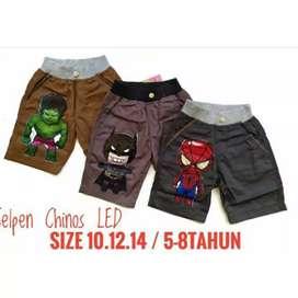 Celana Chinos LED untuk usia 3-4 tahun