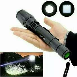 Paket Senter taff-LED E27 LED 2 Batre Tactical XML - T6 8000 Lumen