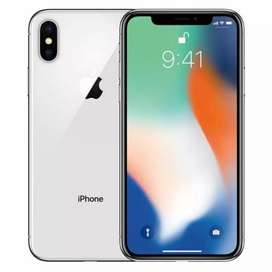 IPHONE X SILVER 256GB NEW PICE SEALED PACK .NO SIM ACTIVATION